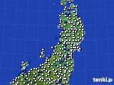 東北地方のアメダス実況(風向・風速)(2020年06月16日)