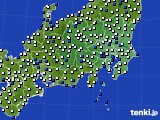 2020年06月16日の関東・甲信地方のアメダス(風向・風速)
