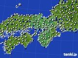 近畿地方のアメダス実況(風向・風速)(2020年06月16日)