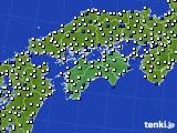 2020年06月16日の四国地方のアメダス(風向・風速)