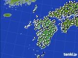 九州地方のアメダス実況(風向・風速)(2020年06月16日)