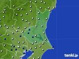 茨城県のアメダス実況(風向・風速)(2020年06月16日)