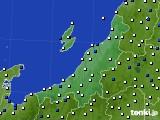 新潟県のアメダス実況(風向・風速)(2020年06月16日)