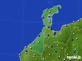 2020年06月16日の石川県のアメダス(風向・風速)