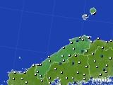 2020年06月16日の島根県のアメダス(風向・風速)