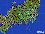 関東・甲信地方のアメダス実況(日照時間)(2020年06月17日)