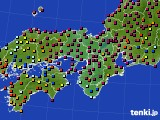 近畿地方のアメダス実況(日照時間)(2020年06月17日)