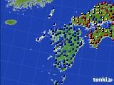 九州地方のアメダス実況(日照時間)(2020年06月17日)