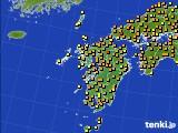 2020年06月17日の九州地方のアメダス(気温)