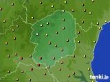栃木県のアメダス実況(気温)(2020年06月17日)