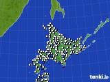 北海道地方のアメダス実況(風向・風速)(2020年06月17日)