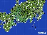 2020年06月17日の東海地方のアメダス(風向・風速)