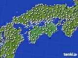 2020年06月17日の四国地方のアメダス(風向・風速)