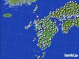 九州地方のアメダス実況(風向・風速)(2020年06月17日)