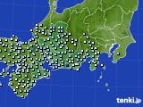 2020年06月18日の東海地方のアメダス(降水量)