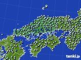 2020年06月18日の中国地方のアメダス(降水量)