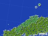 島根県のアメダス実況(降水量)(2020年06月18日)