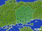 岡山県のアメダス実況(降水量)(2020年06月18日)