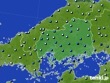 2020年06月18日の広島県のアメダス(降水量)