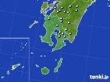 鹿児島県のアメダス実況(降水量)(2020年06月18日)