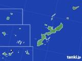 沖縄県のアメダス実況(降水量)(2020年06月18日)