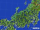 2020年06月18日の北陸地方のアメダス(日照時間)