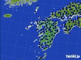 九州地方のアメダス実況(日照時間)(2020年06月18日)