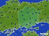 岡山県のアメダス実況(日照時間)(2020年06月18日)