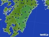 宮崎県のアメダス実況(日照時間)(2020年06月18日)