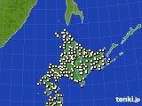 2020年06月18日の北海道地方のアメダス(気温)