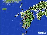 2020年06月18日の九州地方のアメダス(気温)