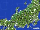2020年06月18日の北陸地方のアメダス(風向・風速)