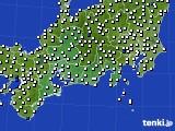 2020年06月18日の東海地方のアメダス(風向・風速)