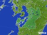 2020年06月18日の熊本県のアメダス(風向・風速)