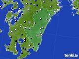 2020年06月18日の宮崎県のアメダス(風向・風速)