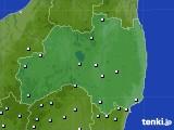 福島県のアメダス実況(降水量)(2020年06月19日)