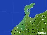石川県のアメダス実況(降水量)(2020年06月19日)