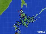 2020年06月19日の北海道地方のアメダス(日照時間)