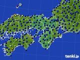 2020年06月19日の近畿地方のアメダス(日照時間)