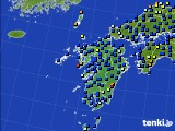 九州地方のアメダス実況(日照時間)(2020年06月19日)