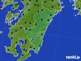 2020年06月19日の宮崎県のアメダス(日照時間)