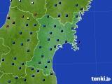 宮城県のアメダス実況(日照時間)(2020年06月19日)