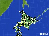 2020年06月19日の北海道地方のアメダス(気温)