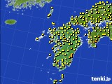 2020年06月19日の九州地方のアメダス(気温)