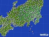 2020年06月19日の関東・甲信地方のアメダス(風向・風速)
