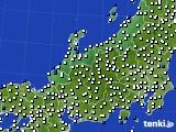 北陸地方のアメダス実況(風向・風速)(2020年06月19日)