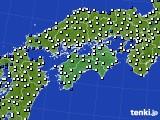 2020年06月19日の四国地方のアメダス(風向・風速)