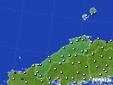 2020年06月19日の島根県のアメダス(風向・風速)
