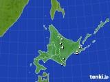北海道地方のアメダス実況(降水量)(2020年06月20日)