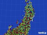 2020年06月20日の東北地方のアメダス(日照時間)